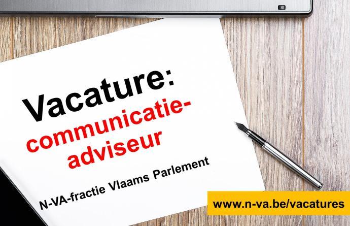 Vacature Communicatieadviseur N-VA-fractie Vlaams Parlement