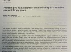 Piet De Bruyn - mensenrechtenrapport over interseksuelen