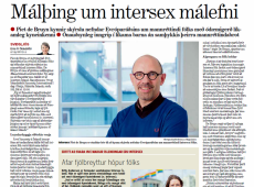 Europees rapport Piet De Bruyn brengt debat over intersekse personen op gang in IJsland