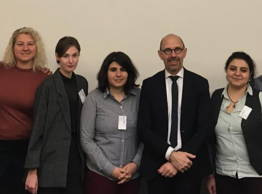 Ontmoeting Piet De Bruyn met ILGA-EUROPE op Raad van Europa