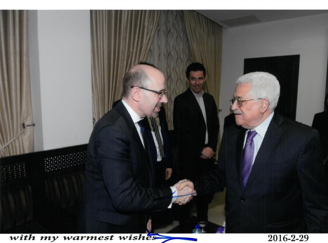 Piet De Bruyn - Mahmoud Abbas - Palestina - Israël