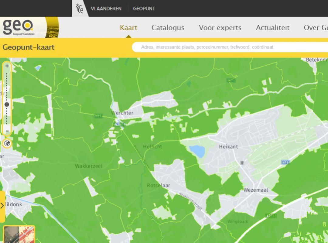 Digitale jachtplannen eindelijk beschikbaar - Geopunt.be - Piet De Bruyn